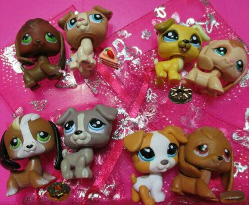 Littlest Pet Shop Lot 2 Random Beagle Jack Russell Dog plus Sweet Cake Authentic