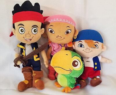Disney Jr. Neverland Pirates Jake, Izzy, Cubby, Skully Plush Stuffed Dolls Lot - Disney Izzy