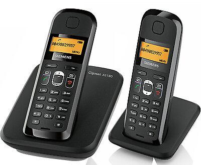 Siemen Gigaset AS180 analog ECO DECT schnurloses Telefon strahlungsarm DUO / 2er