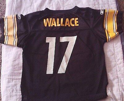 NFL Pittsburgh Steelers Onfield Reebok Jersey - Wallace #17 - Kids Medium (5-6)