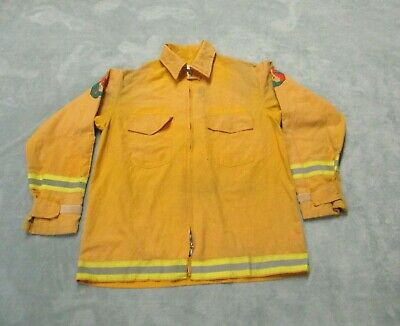Firefighter Wildlandbrush Fire Jacket Wreflector Stripes Size Large