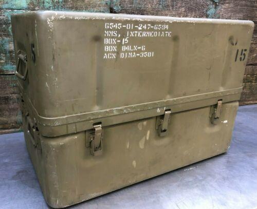 "31x20x22"" Aluminum Military Medical Supply Chest Box Case Storage Survival"