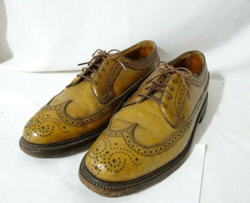 vtg Florsheim Imperial 93631 DJ Golden Harvest Shoes Sz 8.5 C See All Photos