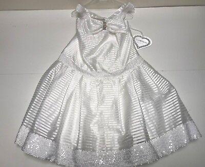 ValMax New Girls Kids SEQUIN TRIM DRESS w CRISS CROSS STRAPS Sz: 8 RTL $415 P910