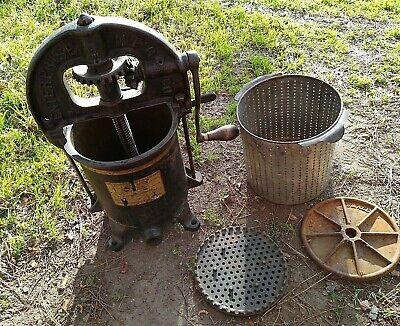 Antique 1800s Usa Enterprise Sausage Stuffer Lard Fruit Press 2092 No Spout