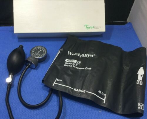 Welch Allyn Tycos 5090-37 Pocket Aneroid Sphygmomanometer w Thigh Cuff        kp