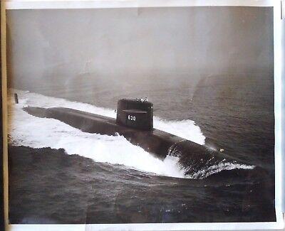 USS John C. Calhoun - Submarine - 1960s 8x10 Photo - USN NAVY - PUBLICITY SHOT 2