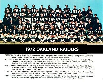 1972 OAKLAND RAIDERS 8X10 TEAM PHOTO FOOTBALL PICTURE NFL WESTERN DIV -