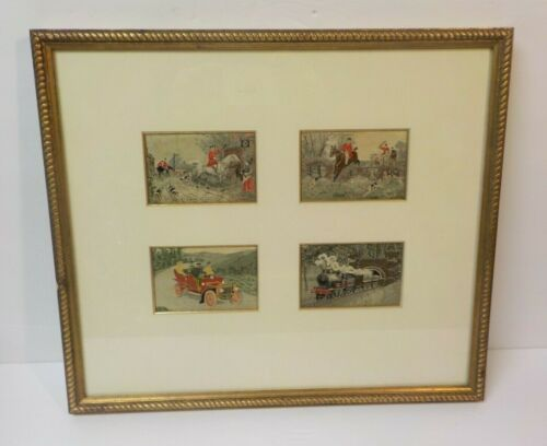 "Group/4 Framed ""Stevengraphs"", Woven Silk Pictures, c. early 1900"