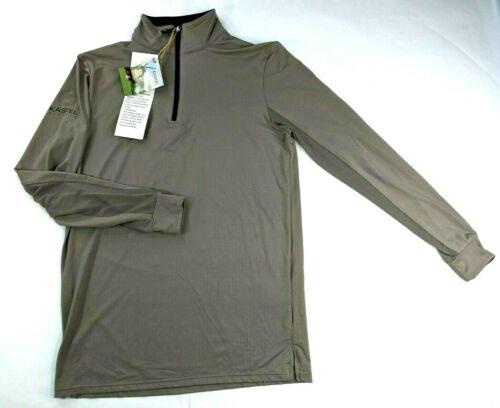 Kastel Denmark Youth 1/4 Zip Large Tan Long Sleeve UV Equestrian Sun Shirt NWT