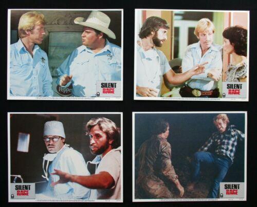 SILENT RAGE 1982 Original lobby card set Chuck Norris martial arts MMA karate