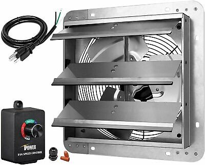 Ipower 12 Variable Shutter Exhaust Fan With Speed Controller Power Cord Kit