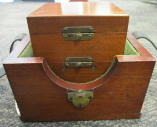ANTIQUE WALTHAM WATCH CO. 8 DAY  MARINE CHRONOMETER AND WOODEN BOX