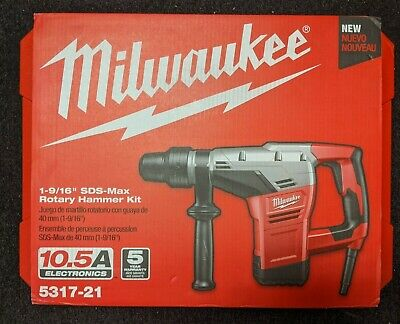 Milwaukee Corded 10.5a 1-916 Sds-max Rotary Hammer Kit 5317-21 Brand New