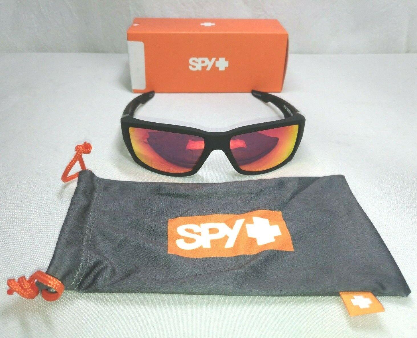 SPY OPTICS Rover POLARIZED Sunglasses Matte Black//Happy Gray Blue Spectra NEW
