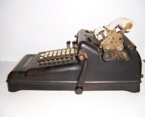 Antique Burroughs Hand Crank Adding Machine 3-860058
