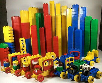 Huge lot Lego Duplo Toddler Building Block/bricks/People/Car VTG set 355pc 8 lb