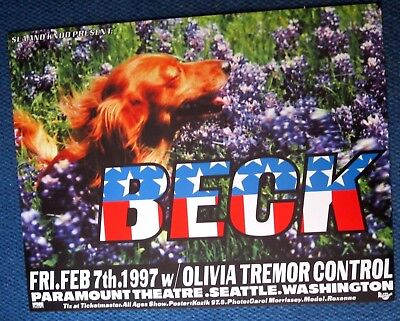 Beck Olivia Tremor Control 1997 Paramount Theatre Seattle Concert Poster Kozik