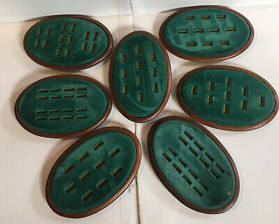Gerald Fried Display Co. Ring Trays Lot Of 7 Oval Used