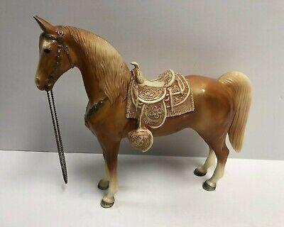 vintage Breyer Western Horse with Saddle (Honey / Tan) No. 57