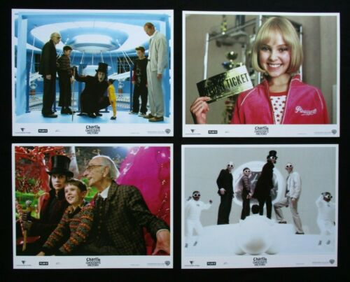 CHARLIE & THE CHOCOLATE FACTORY 2005 Orig lobby card set Johnny Depp Tim Burton