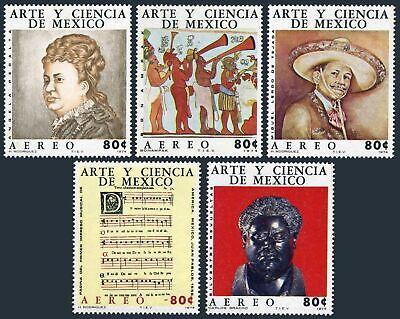 Mexico C439-C443, MNH.Mi 1437-1441. Art 1974.Mayan mural, Miduel Lerdo de Tejada,