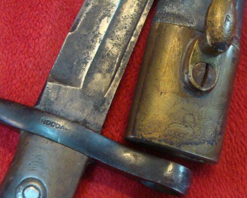 ANTIQUE ITALY ROCCA PRE WWI BAYONET original scabbard