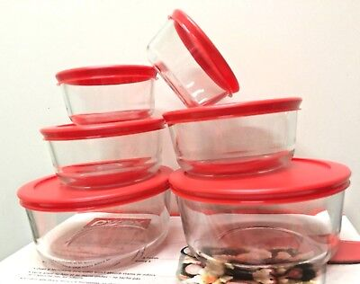 Food Storage Container Lid - Pack of 4 Pyrex Round Glass Food Storage Container W/Lid 1, 2 ,4, 7 cup