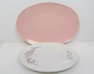 Boonton Ware Melmac Melamine Platters Pink/Roses