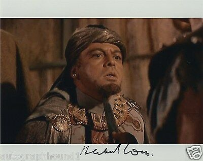 HERBERT LOM SIGNED AUTOGRAPHED COLOR 8X10 PHOTO SPARTACUS