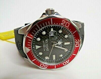 Invicta Pro Diver Quartz Watch Men's Carbon Fiber Red 12561