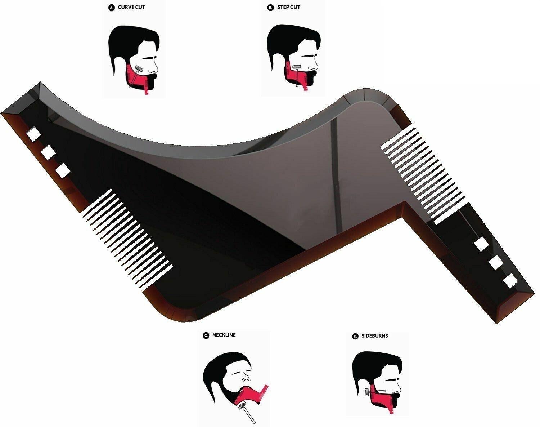 Beard Shaping Tool Template Shaper Stencil Symmetry Trimming