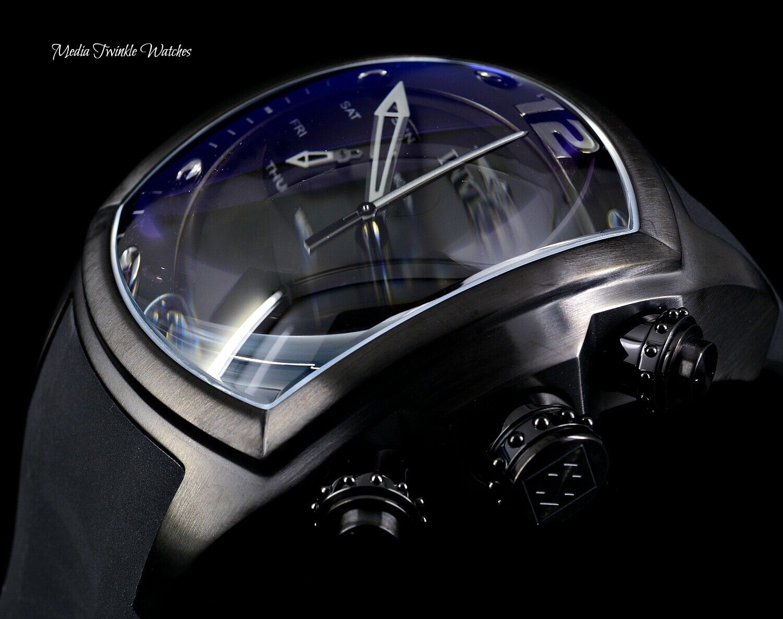 Invicta 47MM Men s Lupah Revolution Swiss Quartz Chronograph ALL Black Watch  - $158.00