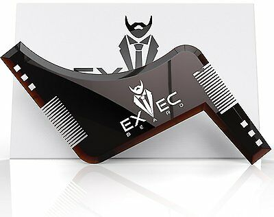 Beard Shaping Tool Template Beard Shaper Guide for Line Up & Edging Styling (Jaw Line Shapes)