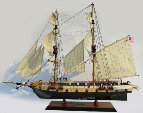 "USS Brig Niagara Tall Ship Model 33"" -  HandCrafted Wooden Model NEW"