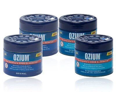 4 Ozium Smoke & Odors Eliminator Gel Air Fresheners 4.5oz Ou