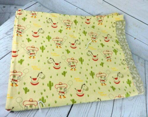 "Handmade Cowboy Puppy Dog Baby Blanket 44"" x 36"" Keepsake Nursery Security"