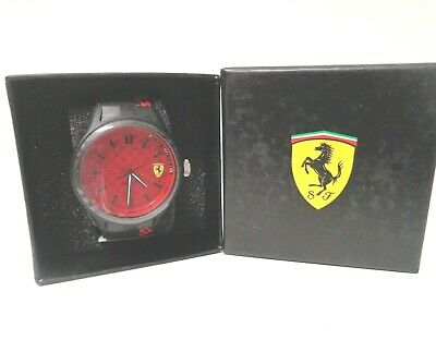 Ferrari Men's Quartz Multi Color Casual Watch 0830325 Black/Red Waterproof