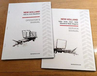 New Holland 1002 Stackliner Bale Wagon Operators And Service Repair Manual