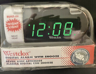 Westclox Digital Alarm Clock With Built In Night Light (New)