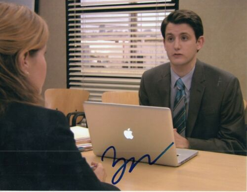 ZACH WOODS signed (THE OFFICE) autographed TV SHOW *Gabe Lewis* 8X10 W/COA #5