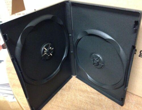 "1 Black Multi Two 2 Discs DVD Case, From New Media, Standard 1/2"" 14mm"