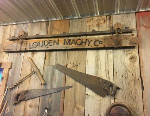 antique rustic wood sign / antique man cave sign