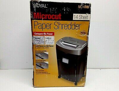 Royal 14 Sheet Micro Cut Shredder - Mc14mx - 29351x Shredder New Open Box