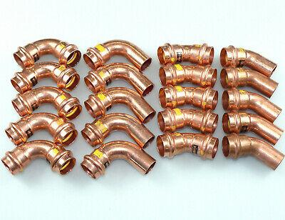 VIEGA PROFIPRESS Kupfer Fitting 90 Grad 22  I//A Neu