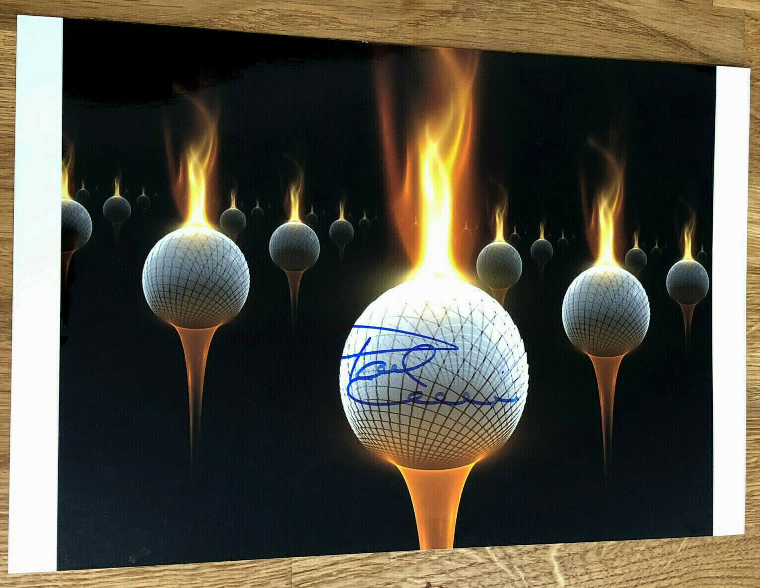 PAUL LAWRIE signed photo 12x8