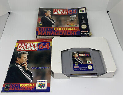 Nintendo 64 N64 Game Premier Manager 64 - Boxed Complete - PAL