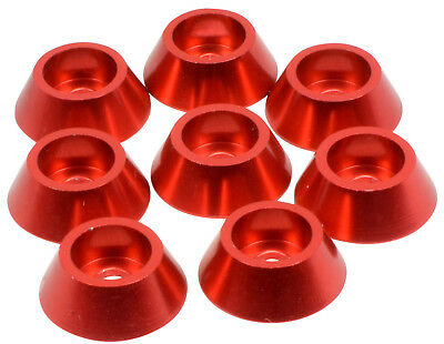 Apex Rc Products Red 4Mm Aluminum Cap Head Screw Washers  6561