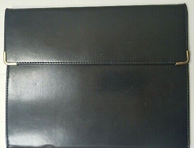 Samsill Black Business Padfolio Executive Portfolio Faux Leather W Note Pad