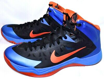 fe79a2e56f6d NIKE Men s Zoom Hyper Quickness Sneakers Shoes (Size 14) Blue Orange   Pre-Owned